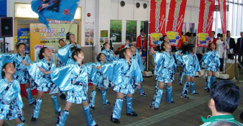 SAKADA WINDSが、JR溝口駅で開催されたBuyかわさきキャンペーンに出演しました。